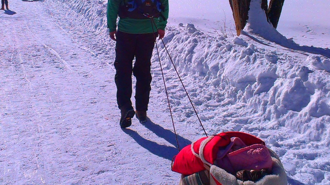 Z niemowlakiem w górach zimą